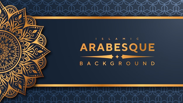 Banner di mandala arabesco di lusso