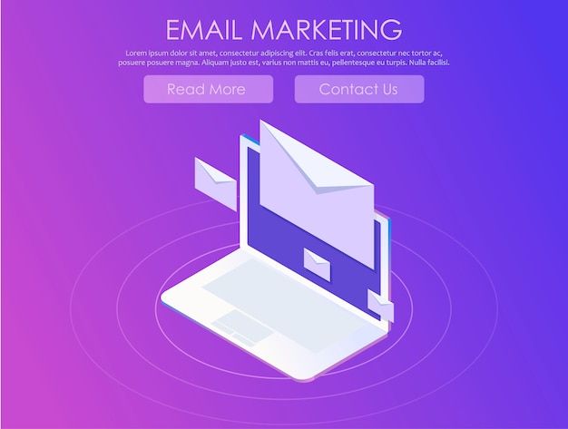 Banner di marketing via email