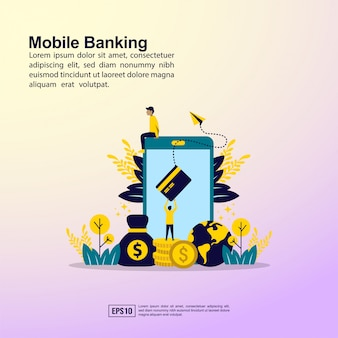 Banner di mobile banking