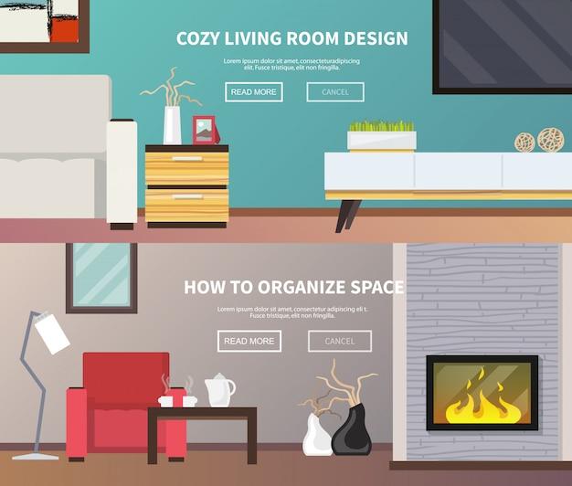 Banner di mobili per soggiorno