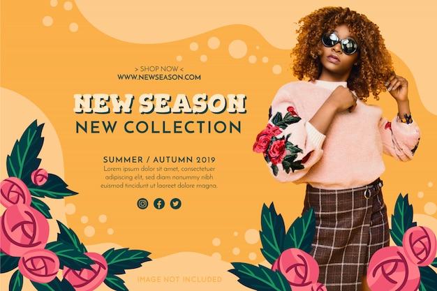 Banner di moda promozione