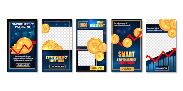 Banner di modelli di investimento smart cryptocurrency.