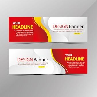 Banner di modello web bianco e rosso pulito moderno, banner di sconto vendita promozione