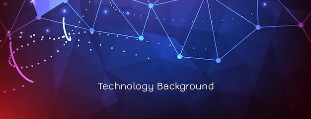 Banner di moderna tecnologia scientifica