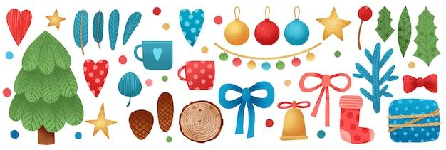 Banner di natale con decorazioni natalizie