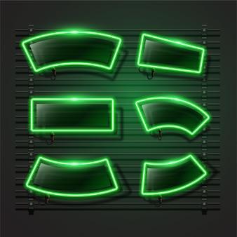 Banner di neon verde.