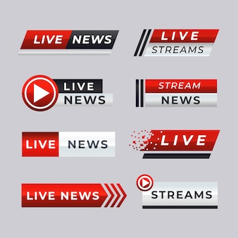 Banner di notizie in diretta streaming