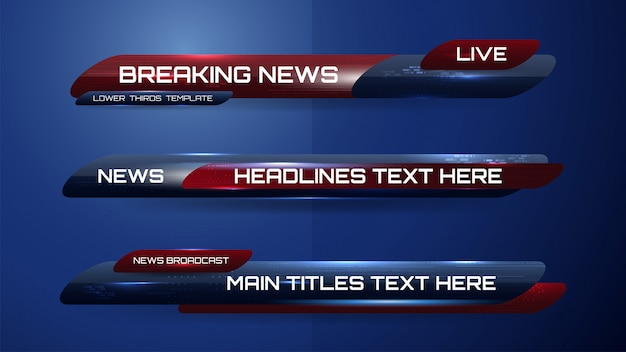 Banner di notizie per canale tv