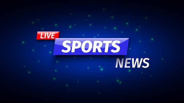 Banner di notizie sportive.