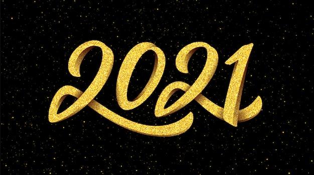 Banner di nuovo anno 2021