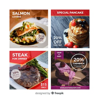 Banner di offerta alimentare fotografica