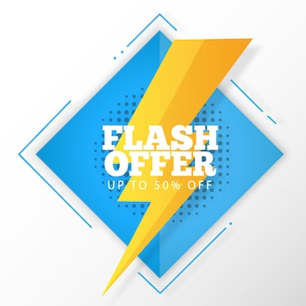 Banner di offerta flash