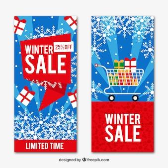 Banner di offerta invernale