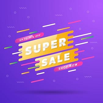Banner di offerta speciale super vendita