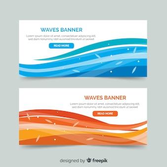 Banner di onda astratta