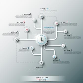 Banner di opzione infografica moderna