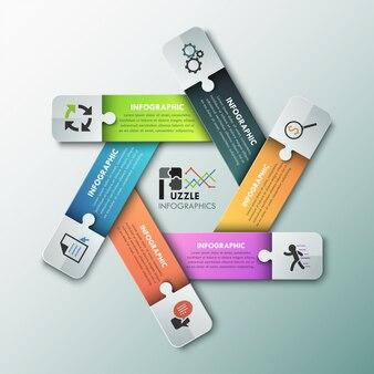 Banner di opzioni di infografica moderna