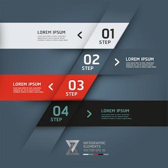 Banner di opzioni di stile origami moderno.