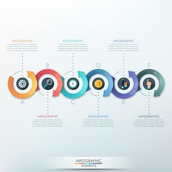 Banner di opzioni infografica moderna