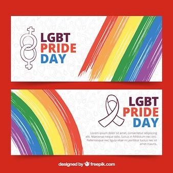 Banner di orgoglio creativo lgbt