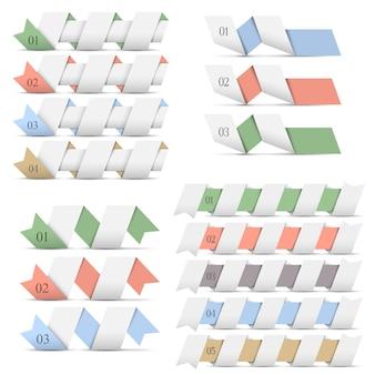 Banner di origami modelli di progettazione per infografica