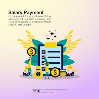 Banner di pagamento stipendio