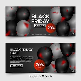 Banner di palloncini venerdì nero