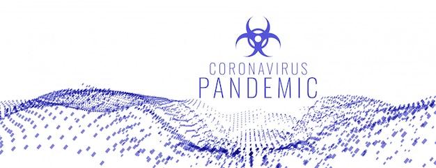 Banner di pandemia globale pandemico in stile medico coronavirus covid-19