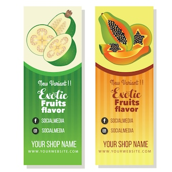 Banner di papaia feijoa