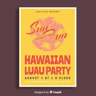 Banner di partito luau hawaiano