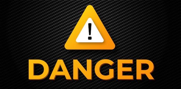 Banner di pericolo di avvertimento