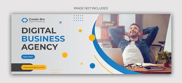 Banner di post sui social media di marketing aziendale