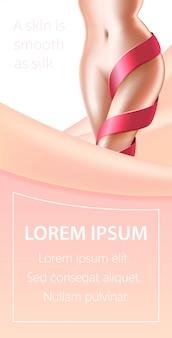 Banner di procedura di bellezza della pelle di rimozione del laser dei capelli