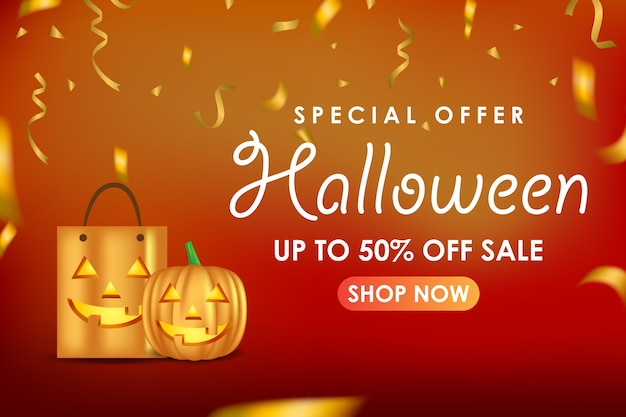 Banner di promozione di halloween