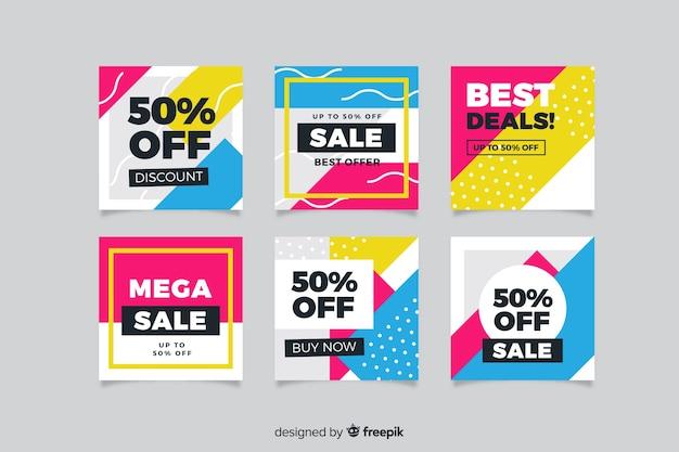 Banner di promozione di vendita per i social media