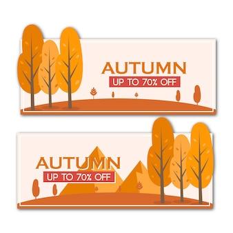 Banner di promozione sconto vendita autunno