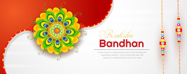Banner di raksha bandhan