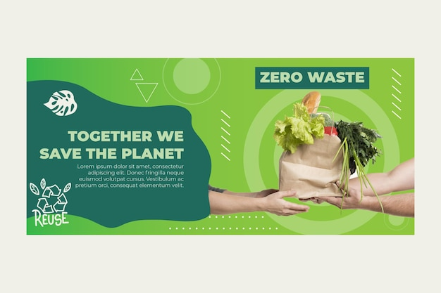 Banner di rifiuti zero