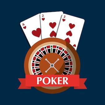 Banner di rischio di gioco d'azzardo carte da poker roulette