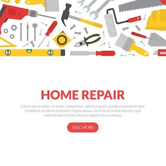 Banner di ristrutturazione casa