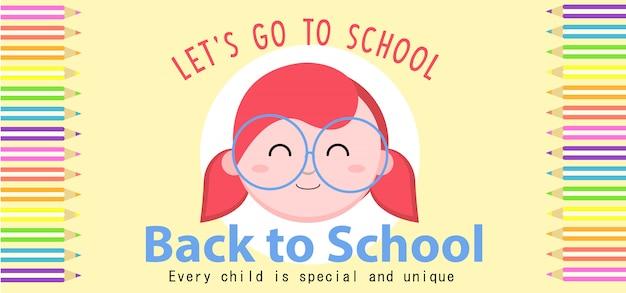 Banner di ritorno a scuola