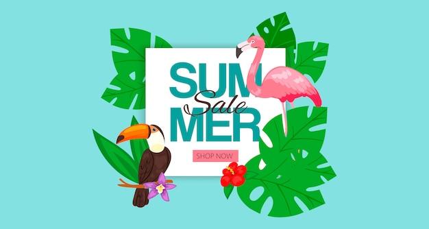 Banner di saldi estivi