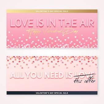 Banner di san valentino con vendita speciale