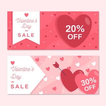 Banner di san valentino con vendita