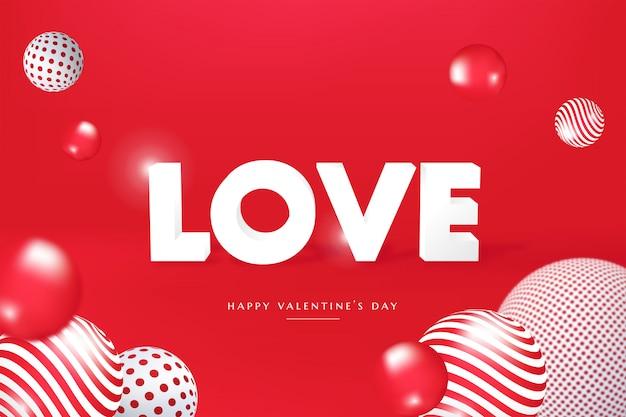 Banner di san valentino moderno