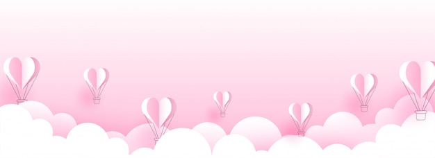 Banner di san valentino.