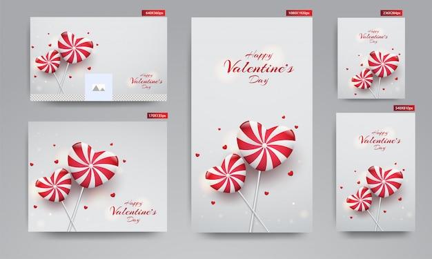 Banner di san valentino,
