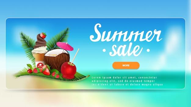 Banner di sconto vendita estate
