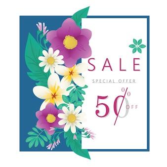 Banner di sconto vendita primavera estate