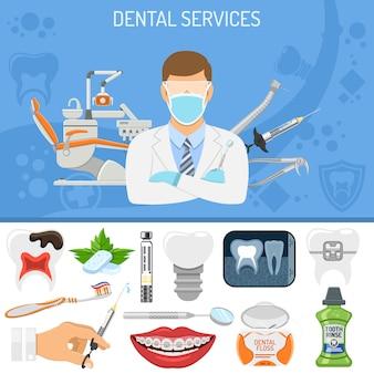 Banner di servizi odontoiatrici